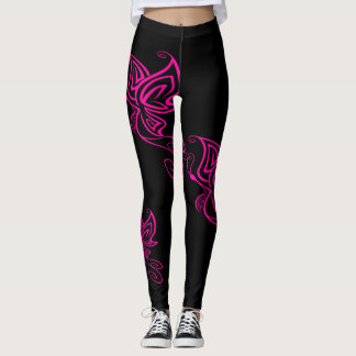 Hot Pink Butterfly Leggings