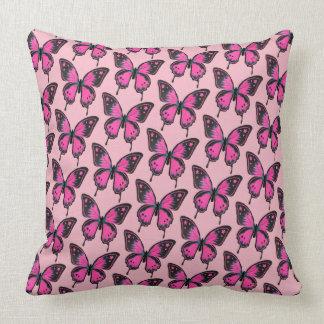 Hot Pink Butterfly Pillow