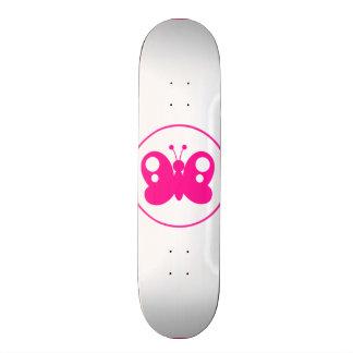 Hot Pink Butterfly Custom Skateboard