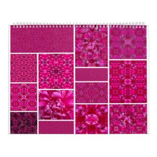 Hot Pink Cabbage Rose 2017 Calendar Designs