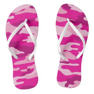 Hot Pink Camo Flip flops, camouflage shoes Flip Flops