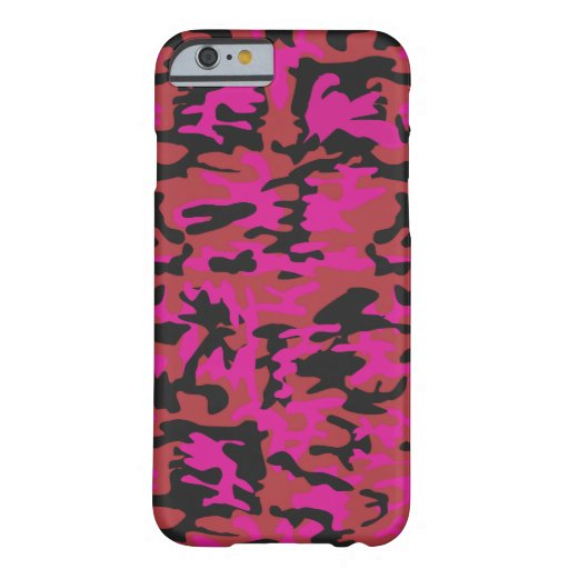 Hot pink camo pattern iPhone 6 case
