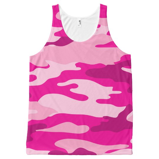 Hot Pink Camo tank top, camouflage shirt