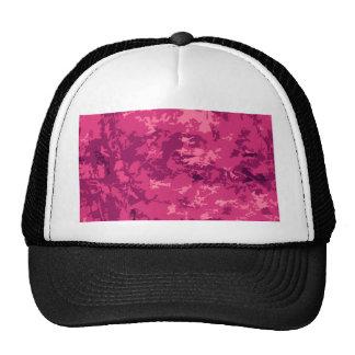 Hot Pink Camo Unique Camouflage Design Pattern Mesh Hat
