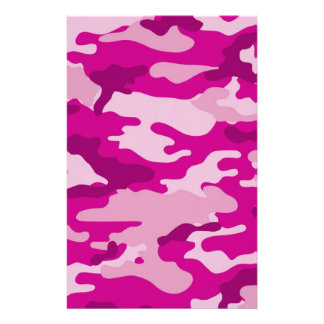 Hot Pink Camouflage Scrapbook Crafting Paper