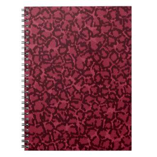 Hot Pink Cat Print Spiral Notebook