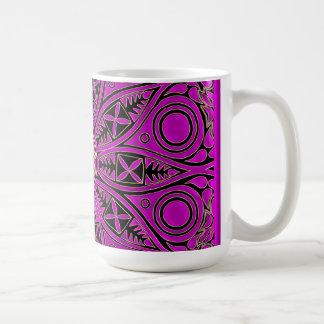 Hot Pink Celtic Triskele Mandala Coffee Mug