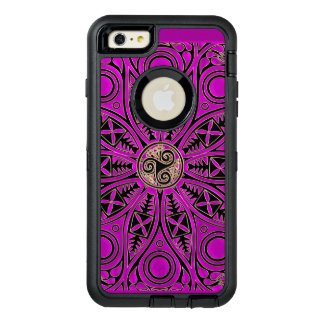Hot Pink Celtic Triskele Mandala OtterBox Defender iPhone Case