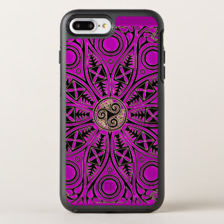 Hot Pink Celtic Triskele Mandala OtterBox Symmetry iPhone 7 Plus Case