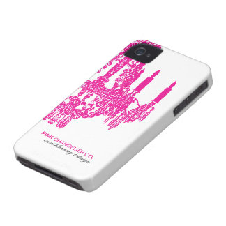 Hot Pink Chandelier Pattern Case-Mate iPhone 4 Case