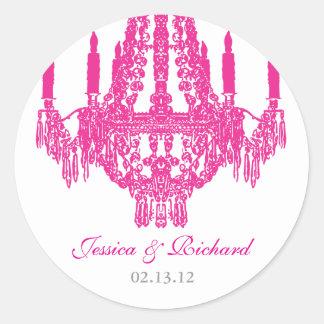 Hot Pink Chandelier Stickers