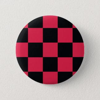 Hot Pink Checkerboard 2 Inch Round Button