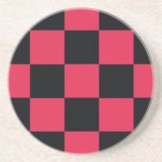 Hot Pink Checkerboard Coaster