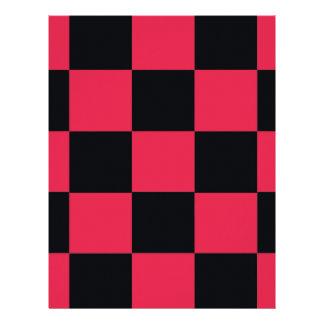 Hot Pink Checkerboard Letterhead