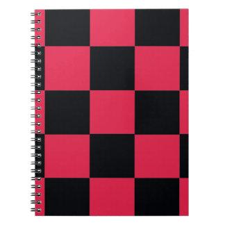 Hot Pink Checkerboard Notebook