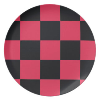 Hot Pink Checkerboard Plate