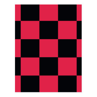 Hot Pink Checkerboard Postcard