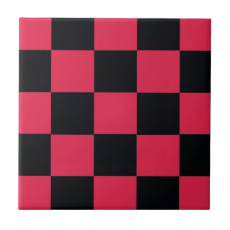 Hot Pink Checkerboard Tile