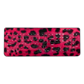 Hot Pink Cheetah Wireless Keyboard