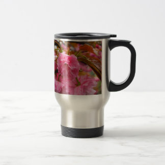 Hot Pink Cherry Blossom Flowers 15 Oz Stainless Steel Travel Mug