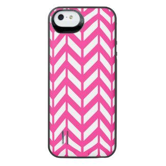 Hot Pink Chevron 4 iPhone SE/5/5s Battery Case