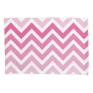 Hot Pink Chevron Ombre ZigZag Pattern Pillowcase