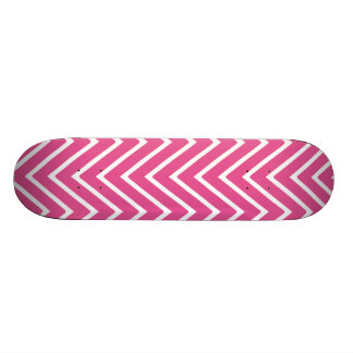 Hot Pink Chevron Pattern 2 Skateboard Decks