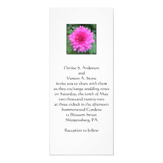 Hot Pink Chrysanthemum Floral Wedding Invitation