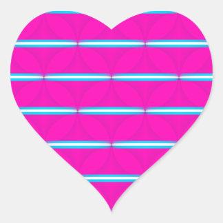 Hot Pink Circle Polka Dots Diamond Teal Stripes Heart Sticker