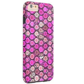 Hot Pink Cream Polka-dot Tough iPhone 6 Plus Case