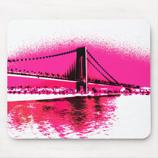 Hot Pink Crossing mousepad