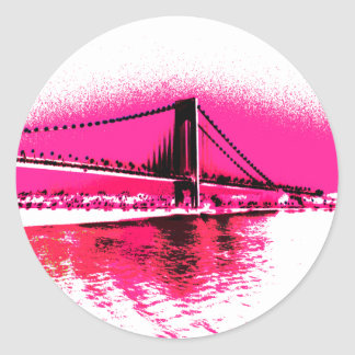Hot Pink Crossing sticker