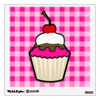 Hot Pink Cupcake Wall Decal