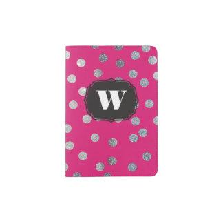 Hot Pink Custom Monogram Passport Cover