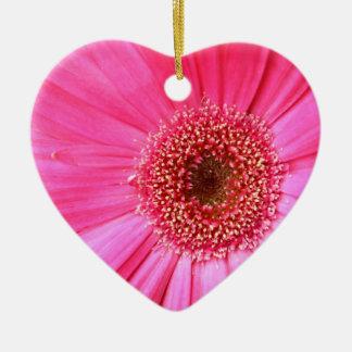 Hot Pink Daisy Ceramic Ornament