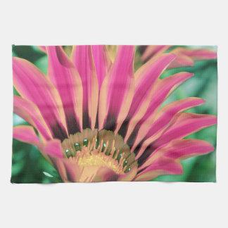 Hot Pink Daisy Petals Kitchen Towel