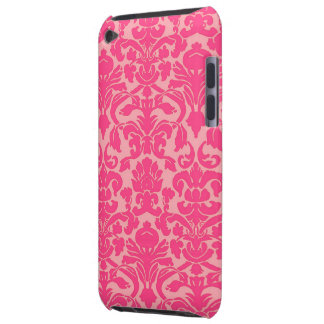 Hot Pink Damask Lace Pattern iPod Case Barely There iPod Cover