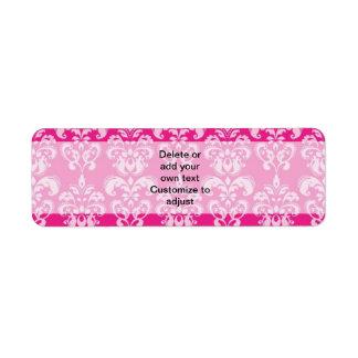 Hot pink damask pattern