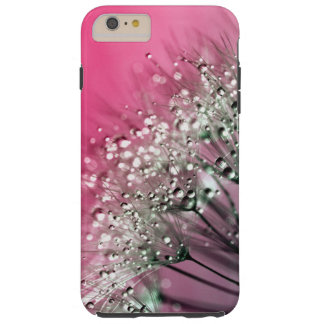 Hot Pink Dandelion Tough iPhone 6 Plus Case