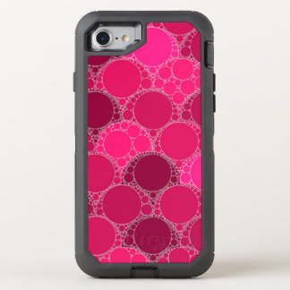 Hot Pink Dark Pink Abstract OtterBox Defender iPhone 8/7 Case