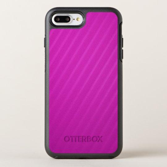 Hot Pink Diagonal Stripes OtterBox Symmetry iPhone 7 Plus Case