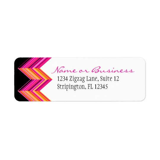 Hot Pink Diags Address Label