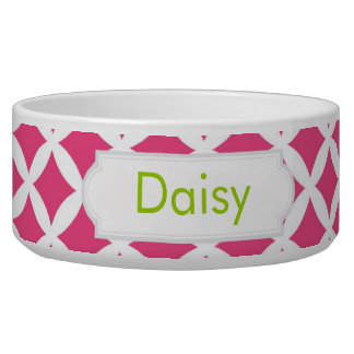 Hot Pink Diamonds Dog Bowl