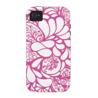 Hot Pink Doodle iPhone 4/4S Case