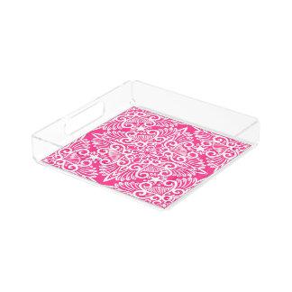 Hot pink Dream root Acrylic Tray