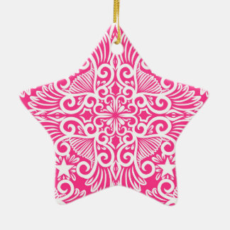 Hot pink Dream root Ceramic Ornament