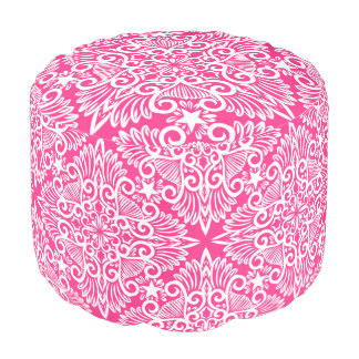 Hot pink Dream root Pouf