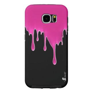 Hot Pink Drip Custom Samsung Galaxy S6 Case