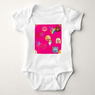 hot pink emoji baby bodysuit