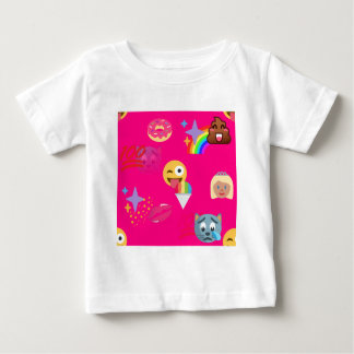hot pink emoji baby T-Shirt